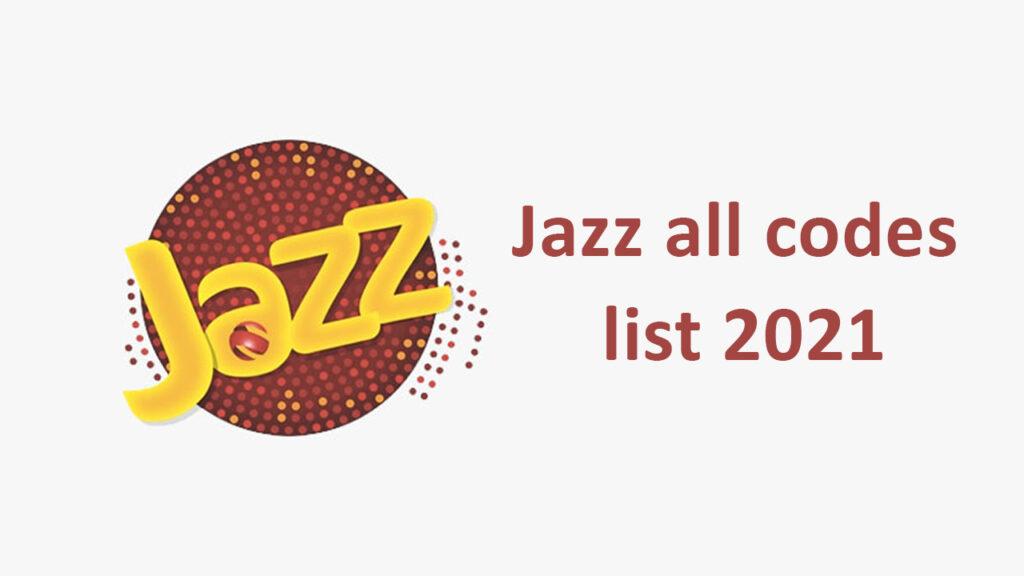 Jazz all codes list 2021